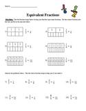 Equivalent Fractions Worksheets withe Teacher Keys