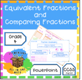 Equivalent Fractions and Comparing Fractions Powerpoint (4.N.F.1)