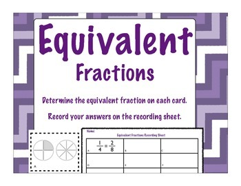 Equivalent Fractions and Comparing Fractions with Common Numerators