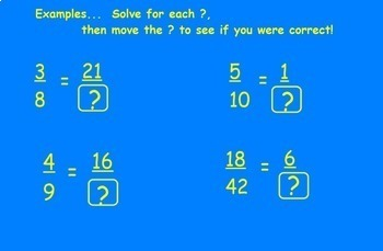 Equivalent Fractions and Converting Fractions and Decimals Smartboard Convert