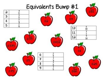 Equivalent Fractions and Decimals - Bump
