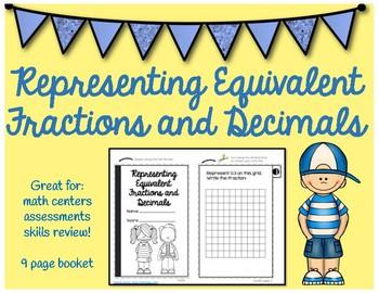 Equivalent Fractions and Decimals Flipbook