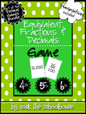 Equivalent Fractions and Decimals Game