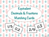 Equivalent Fractions and Decimals Matching Game