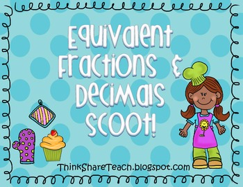 Equivalent Fractions and Decimals Scoot!