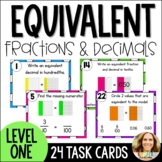 Equivalent Fractions and Decimals Task Cards-Approaching G