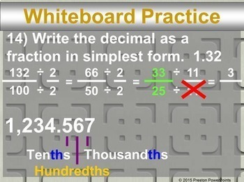 (7th) Rational Numbers in a PowerPoint Presentation