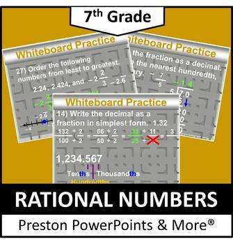 Rational numbers ppt class 7