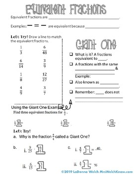 Equivalent Fractions and Fraction Operations Bundle