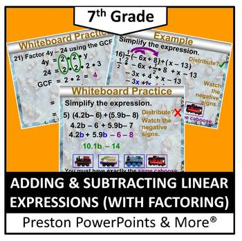 (7th) Adding and Subtracting Linear Expressions (with Fact