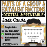 Equivalent Fractions and Parts of a Group Task Cards