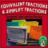 Equivalent Fractions and Simplify Fractions Review Foldabl