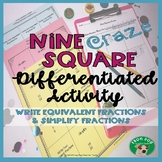 Equivalent Fractions Simplify Fractions Differentiated Activity