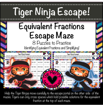 Equivalent Fractions and Simplifying Mazes!
