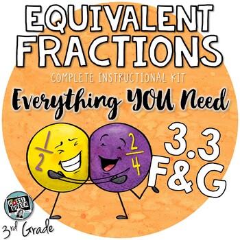 Equivalent Fractions for 3rd Grade TEKS 3.3F and 3.3G - denominators 2,3,4 6, 8