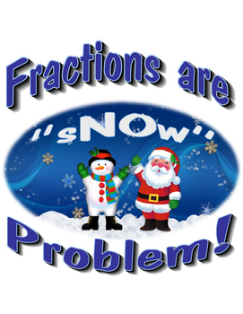 Equivalent Fractions for Winter Bulletin Board, Center, Practice