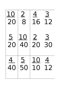 Equivalent Fractions maths games