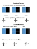 Equivalent Fractions notebook sheet
