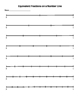 Equivalent Fractions on a Number Line 0-1 (blank)