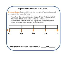 Equivalent Fractions on a Number Line Teacher Time Lesson