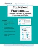Equivalent Fractions (set 5) Common Fractions, Decimals, P