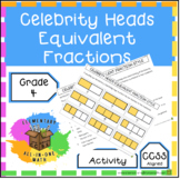 Equivalent Fractions using Celebrity Heads Activity