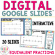 Equivalent Fractions using Number Lines Digital Task Cards for Google Classroom