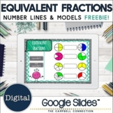 Equivalent Fractions with Number Lines and Models for Google Classroom™ FREEBIE