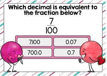 Equivalent Fractions with Tenths and Hundredths Digital Boom Cards