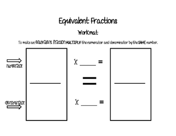 Equivalent Fractions workmat