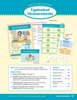 Equivalent Measurements (Take It to Your Seat Centers Common Core Math)