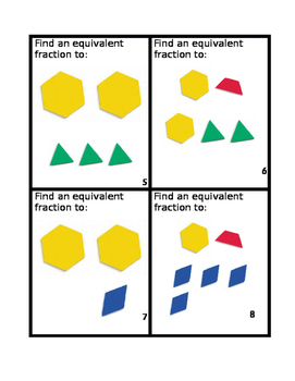 Equivalent Mixed Number Manipulative Task Cards