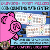 Equivalent Money Puzzles: Coin Matching Math Center