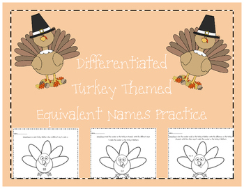 Differentiated Equivalent Names for Numbers Practice Pages