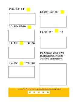Equivalent Number Sentences Addition