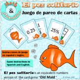Equivalent Numbers Game - Benchmark Fractions, Decimals and Percent - Spanish