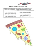 Equivalent Percents, Decimals, and Fractions Pizza Coloring Page