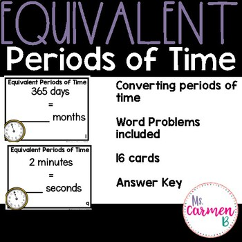Equivalent Periods of Time Scoot
