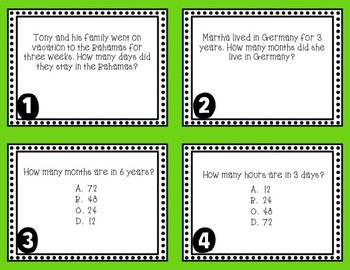 Equivalent Periods of Time Task Cards