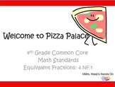 Equivalent Pizza Fractions