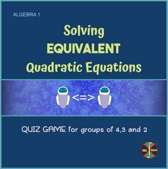 Equivalent Quadratics (All Methods) - Sorting & Word Search (full solutions)