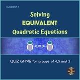 Equivalent Quadratics (All Methods) - Sorting & Word Searc