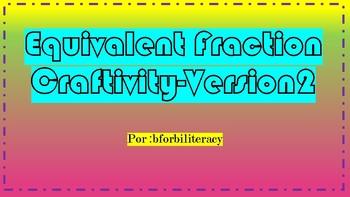 Equivalent Rainbow Fraction Craftivity Version 2
