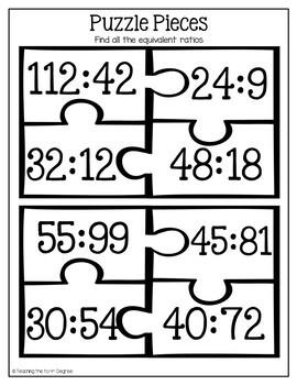 Equivalent Ratio Activity: Puzzles