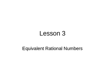 Equivalent Rational Numbers