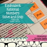 "Equivalent Rational Numbers ""Solve and Snip"" - Practice Problems- Common Core"