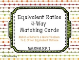 Equivalent Ratios 4-Way Matching Cards