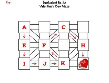 Equivalent Ratios Activity: Valentine's Day Math Maze
