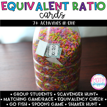 Equivalent Ratios Cards (7+ Activities in One!)
