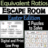 Equivalent Ratios Game: Escape Room Easter Math Activity